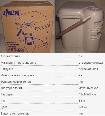 Стиральная машинка Фея СМ-2
