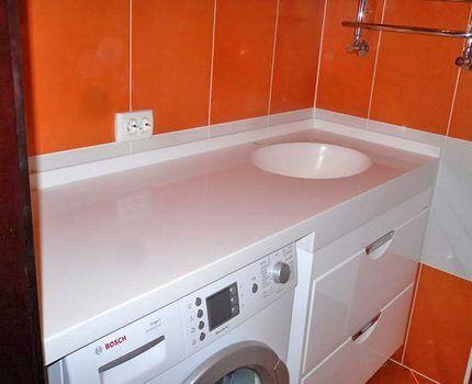 Столешница для ванной из пластика