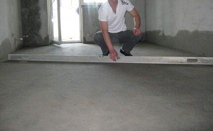 Проверка качества стяжки по теплому полу