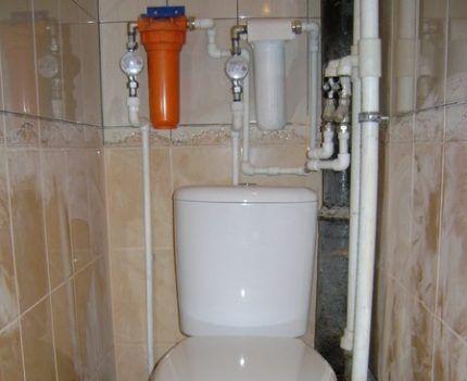 Установка фильтров в туалете