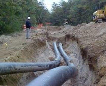 Одновременная укладка основной линии газопровода и параллельной
