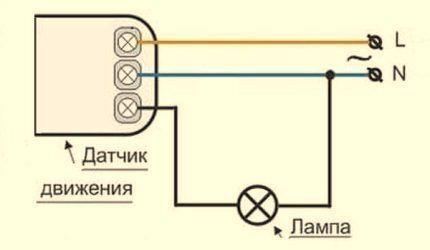 Классическая схема без выключателя