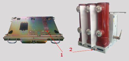 Заземляющие контакторы аппаратной тележки и выключателя