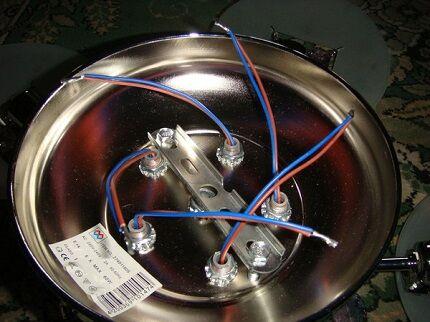 Wires five-arm chandelier