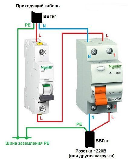 RCD connection circuit