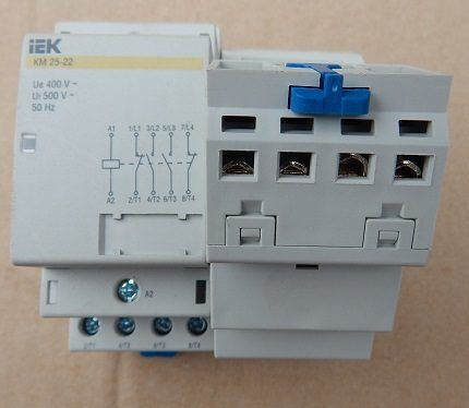 Contactor - wear resistant device