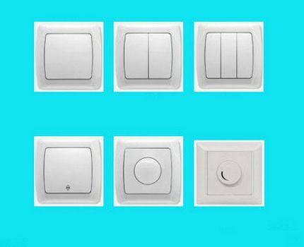 Беспроводные выключатели с разным количеством клавиш