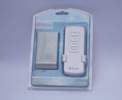 Беспроводной выключатель Feron TM72
