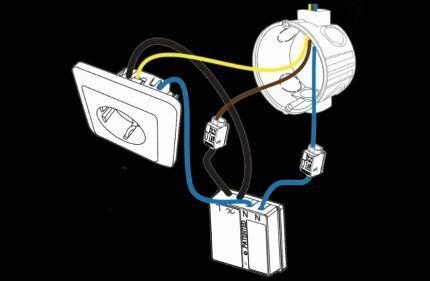 Установка радиовыключателя СОСО ACM-1000