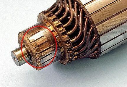 Заусенцы на ламелях двигателя