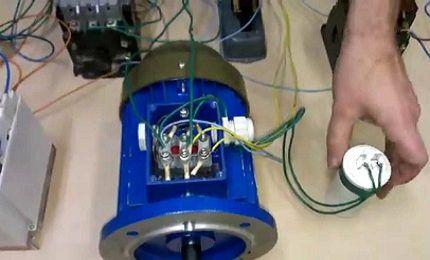 Отключение электродвигателя