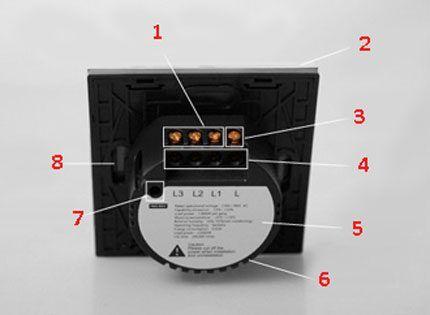 Элементы сенсорного выключателя