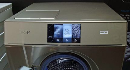 Achievements in the management of the washing machine Haier