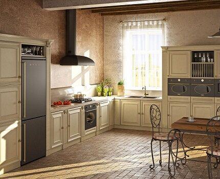 Встраиваемая модель холодильника Смег