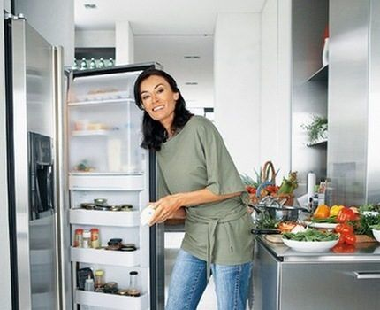Fridge in the kitchen