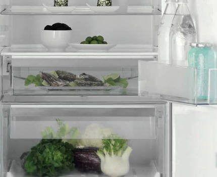 Внутреннее пространство холодильника Электролюкс