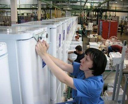 Цех по сборке холодильников в Липецке