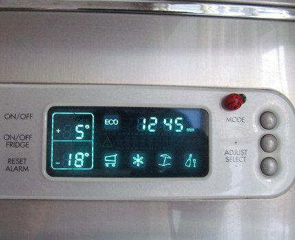 Панель управления с кнопками