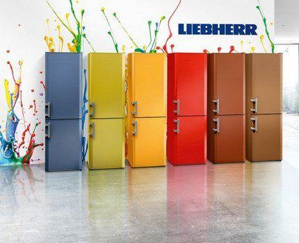 Палитра цветов холодильников Либхер