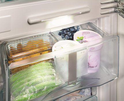 Ящики FrostSafe в холодильнике Либхер