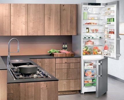 Двухкамерный холодильник марки Либхер