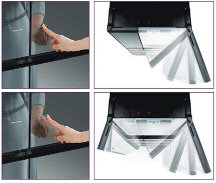 Сенсорная схема открывания дверок