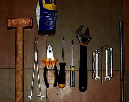 Инструменты для разборк машины