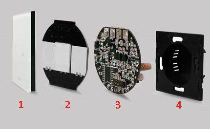 Конструкция сенсорного выключателя