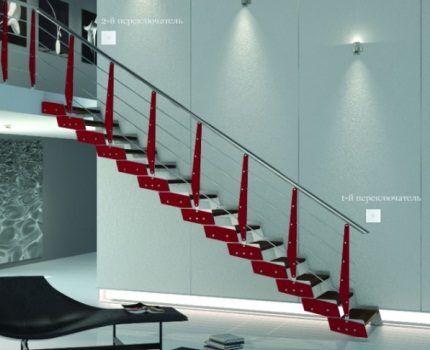 Управление светом на лестнице