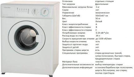 Модель стиралки EWC 1150