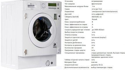 Встраиваемый тип стиралки EWX 147410 W