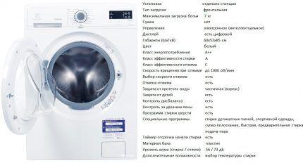 Стиральная машинка коллекции EWF 1076 GDW