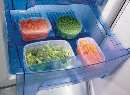 Хранение продуктов в морозилке