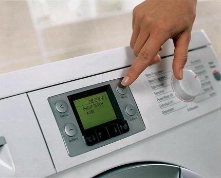 Дисплей автоматической стиральной машинки