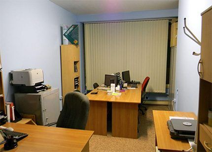 Office space with electrical appliances