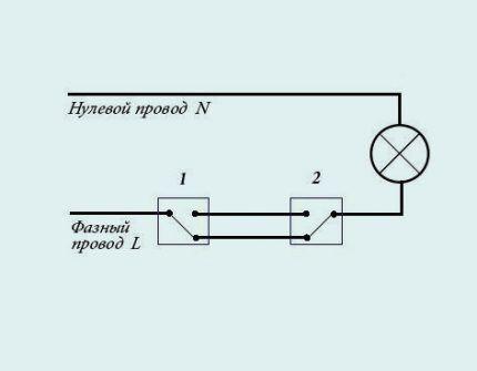 Схема на два направления