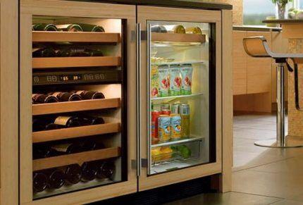 Хранение продуктов в винном шкафу