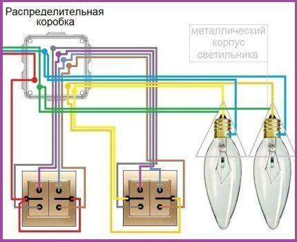 Схема с проходными выключателями