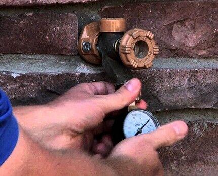Water flow pressure