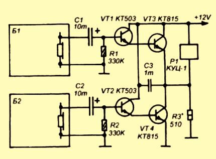 Схема на четырех транзисторах