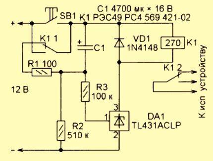 Таймер на микросхеме TL431