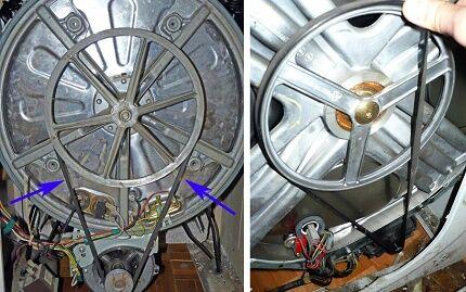 Замена ремня передачи стиральной машины