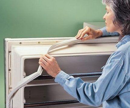 Замена прокладки холодильника