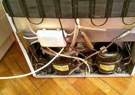 Расположение компрессора в холодильнике