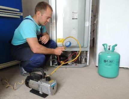 Заправка газом новой серии 507
