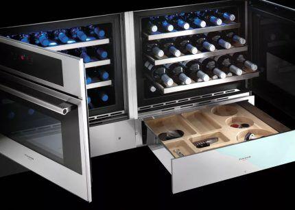 Модель винного шкафа