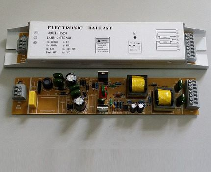 Electronic ballast from the budget series