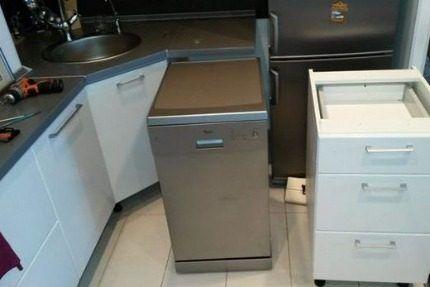 Узкая модель посудомоечной машины