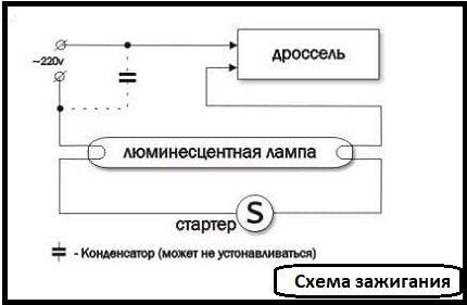 Схема зажигания ЛЛ