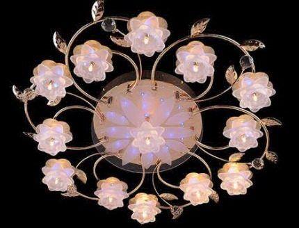 Люстра с капсульными лампочками
